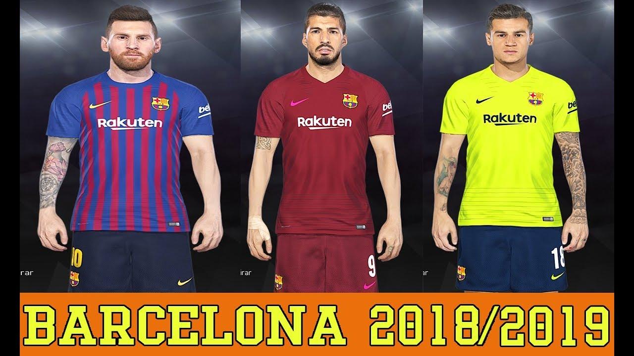 PES 2018 - UNIFORME FC BARCELONA 2018 2019 - PC PS4 - YouTube 5704d0f3ba7