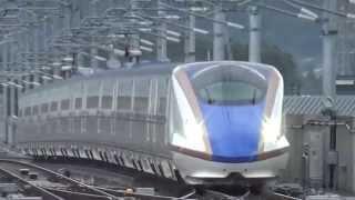 「かがやき」が「はくたか」を追い抜き(北陸新幹線)Hokuriku Shinkansen thumbnail