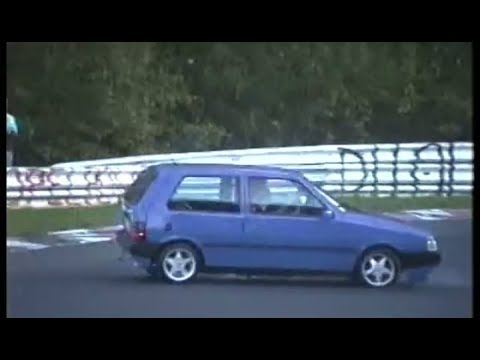 Nordschleife Touristenfahrten Oldtimer hits barrier, street legal group c car 05.10.-19.10.1997