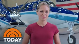 Dylan Dreyer Flies Above Hurricane Florence With Storm Tracking Team | TODAY