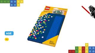 LEGO Notebook with studs 2016 853569: Review