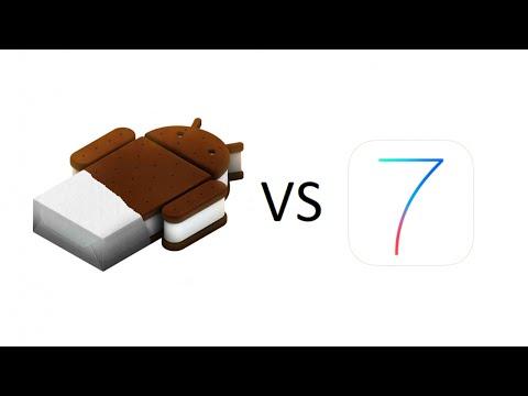 مقارنة  iOS  7 vs Android 4.2.2