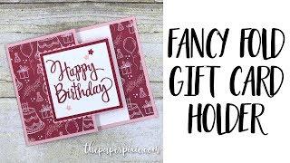 Fancy Fold Gift Card Holder