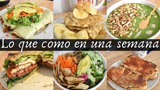 Lo que como en una semana vegana sabrosona | VIDA VEGANA