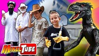Los hermanos paleontólogos reciben la visita de John Jammond, que l...