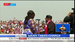 Former football star George Weah was sworn in as Liberia's new president
