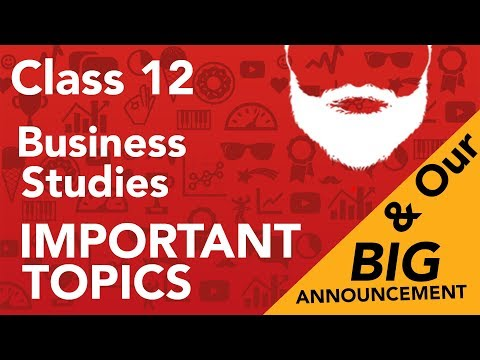 Most Important Topics - Business Studies #teamcommercebaba