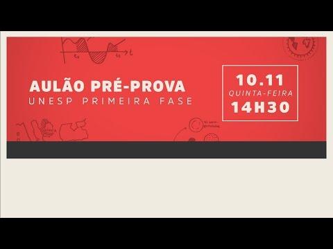[AULÃO PRÉ-PROVA] Me Salva! 10/11 - 14h30 - UNESP 1ª Fase