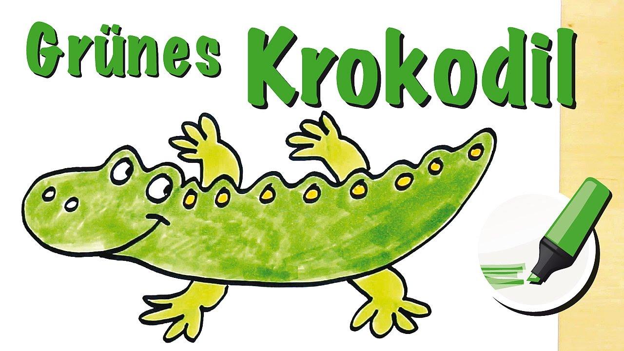 Krokodil zeichnen lernen Der blitzschnelle Jäger How to draw a Crocodile (Cartoon) YouTube ~ 01114823_Einfache Zeichnung Liegestuhl