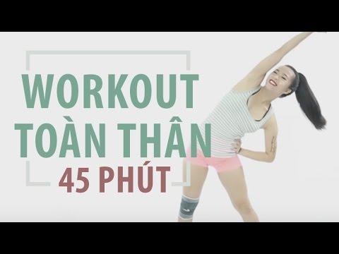 Bài tập workout toàn thân 45 phút | Hana Giang Anh | Workout #40