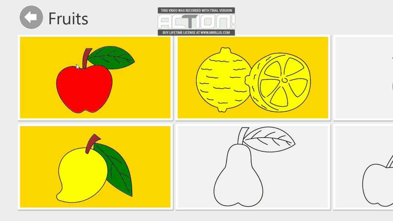 Meyveleri Boyama Boyama Oyunu Videeolari Youtube
