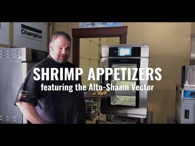 Shrimp Appetizers featuring the Alto-Shaam Vector