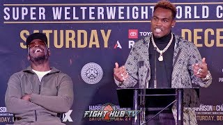 "JERMELL CHARLO GOES OFF ON TONY HARRISON TO HIS FACE! YELLS AT HIM OVER ""FAKED INJURY"" AT PRESSER"