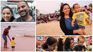 GOA VLOG DAY-1 | Family Vacation | BAGA BEACH | MomCom India Vlogs