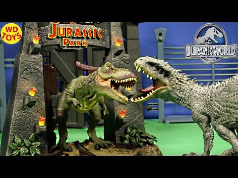 New Jurassic Park Movie Toys Indominus Rex Vs T-Rex TYRANNOSAURUS REX Limited Edition Unboxing