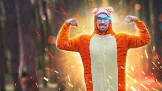 Утренняя зарядка с Тигром, гимнастика для детей и взрослых