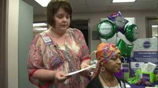 How to tie a head scarf for cancer patients