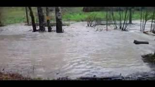 Esondazione Torrente Fistona a San'Ansano (Borgo San Lorenzo, Firenze)