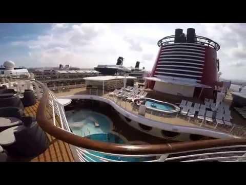 Disney Fantasy Cruise Video Tour - Walking around with GoPro