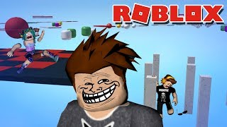 TROLLING MIS HIJOS CON UN TROLL SECRET OBBY I MADE - ROBLOX OBSTACLE PARADISE