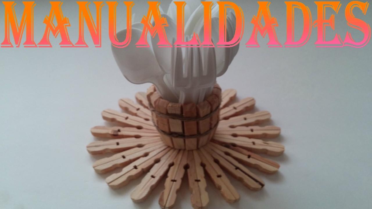 Manualidades pinzas de madera youtube - Madera para manualidades ...