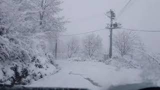 karda yolculuk..#kızılüzüm den#çelikdere #düzce ye..eşsiz manzara.(mümin sarıkaya)şu karşıki dağda..