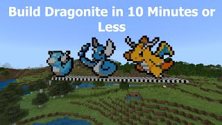 Minecraft Pixel Art: How To Build Dragonite From Pokémon In 10 Minutes Or Less