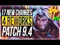 YASUO NERFS & REWORKS ARE HERE!! - 17 New Changes & OP Champs Patch 9.4 - League of Legends