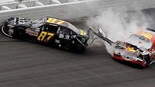 Repeat youtube video Major wreck following NNS finish at Daytona