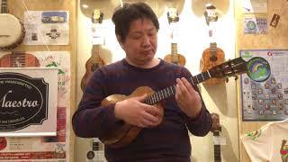 Kamaka HF-3 D2I テナー4弦 デラックス ハワイアン・カーリーコア #171718 thumbnail