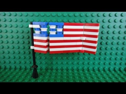 How To Build A Lego United States Of America Flag