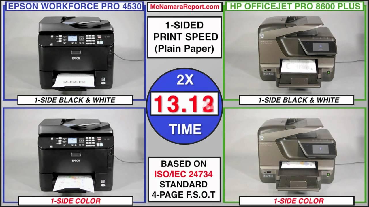 Epson Workforce Pro 4530 Vs Hp Officejet Pro 8600 Plus All