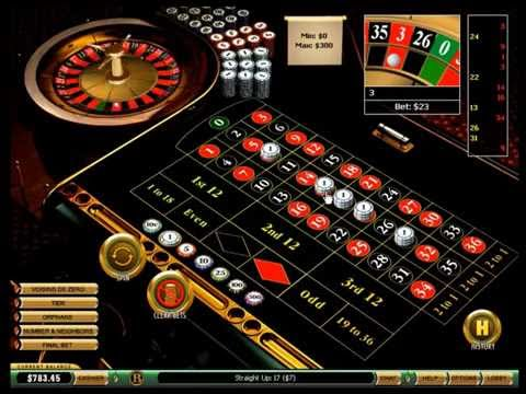 Betting on 5 numbers straight up on roulette, and increasing bets every 5 spins.