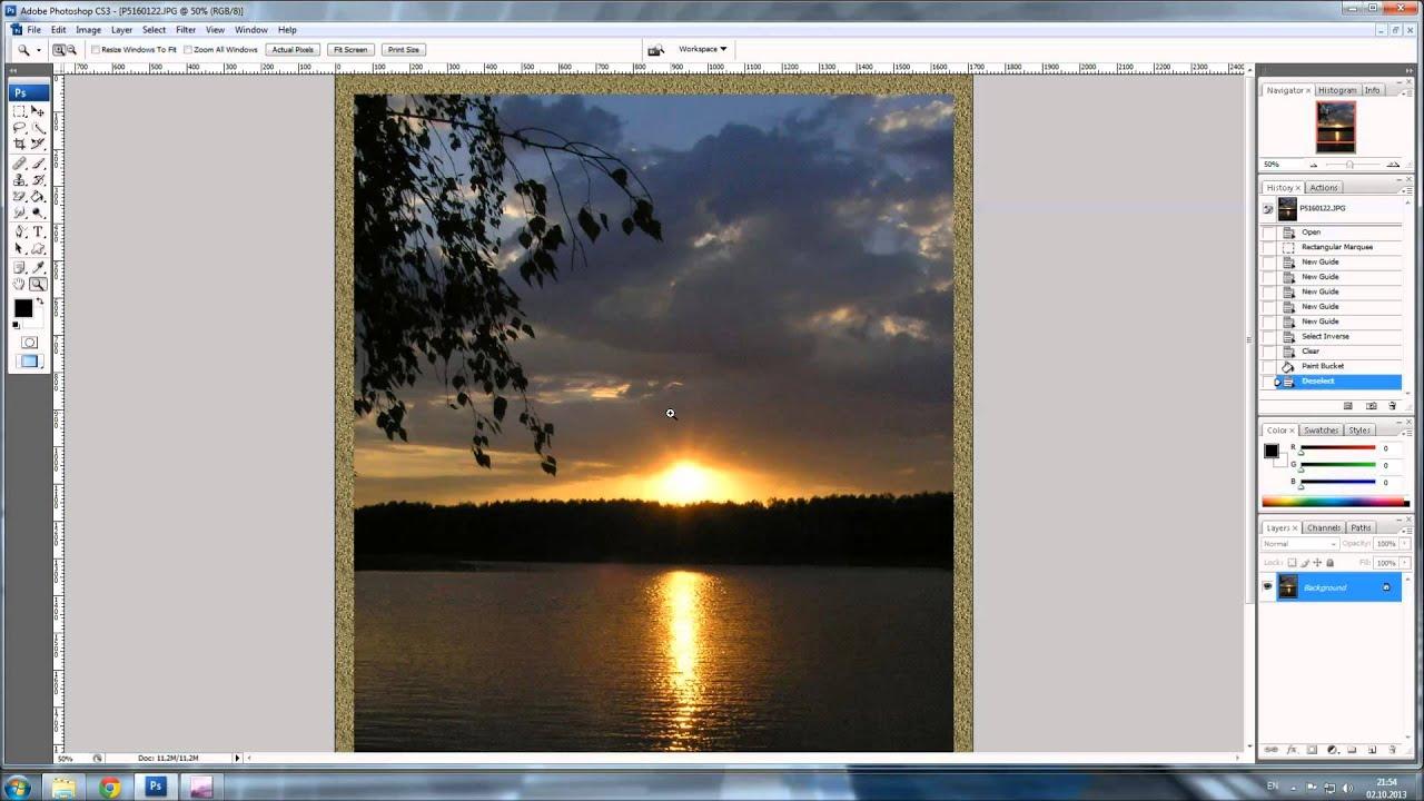Фотошоп. как сделать рамку на фото