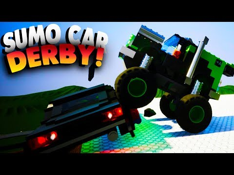Brick Rigs Game | SUMO CAR DERBY! | Lets Play Brick Rigs Gameplay & Online Multiplayer Workshop