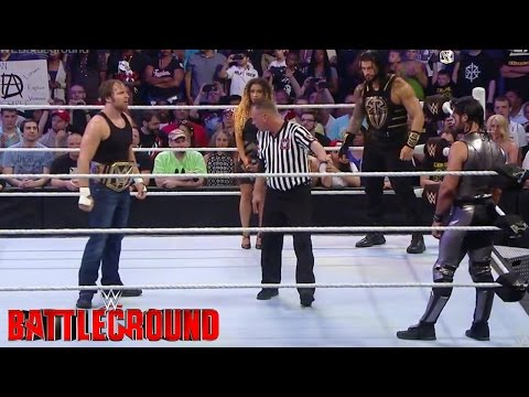 BATTLEGROUND 2016: Dean Ambrose VS Roman Reigns VS Seth Rollins - (WWE CHAMP Match)