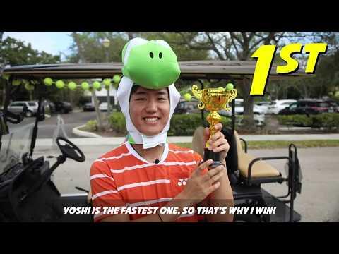 Mario Kart comes to Delray Beach (starring Steve Johnson, Jordan Thompson and Yoshi Nishioka)