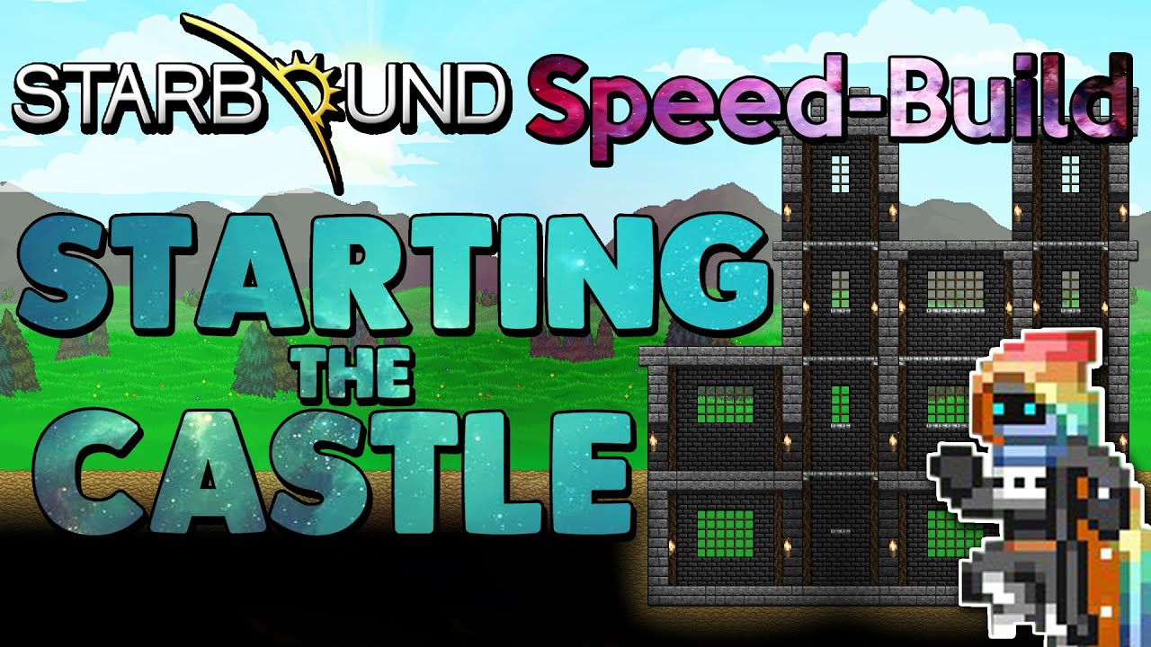 Starting The Castle Starbound Speed Build Episode 1 Wiring Station In