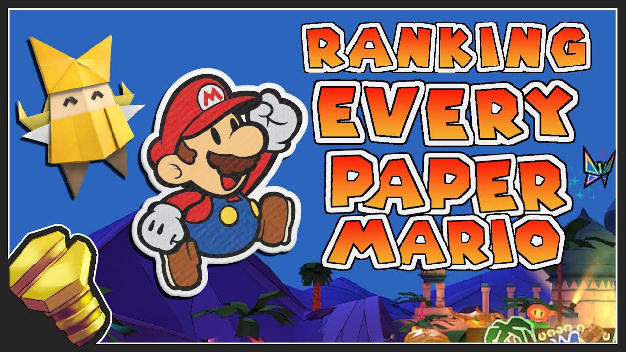 Ranking EVERY Paper Mario Game (and The Origami King Review) - The Golden Bolt