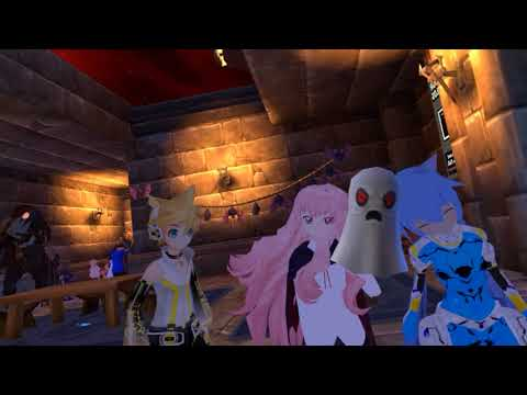 VRChat Moments - Cute playful VR anime neko cat girl: Virtual Reality