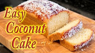 Coconut cake, simple easy and quick to make.