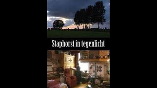 Staphorst in tegenlicht.