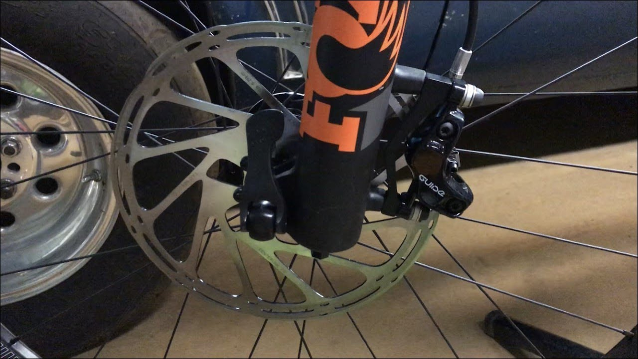 How to Mount 200mm (8 inch) SRAM Rotors on a 2018 Fox 36 Float Factory  170mm Fork