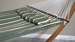 Island Bay 13 Ft. Seagrass Quilted Hammock With Wood Arc Stand