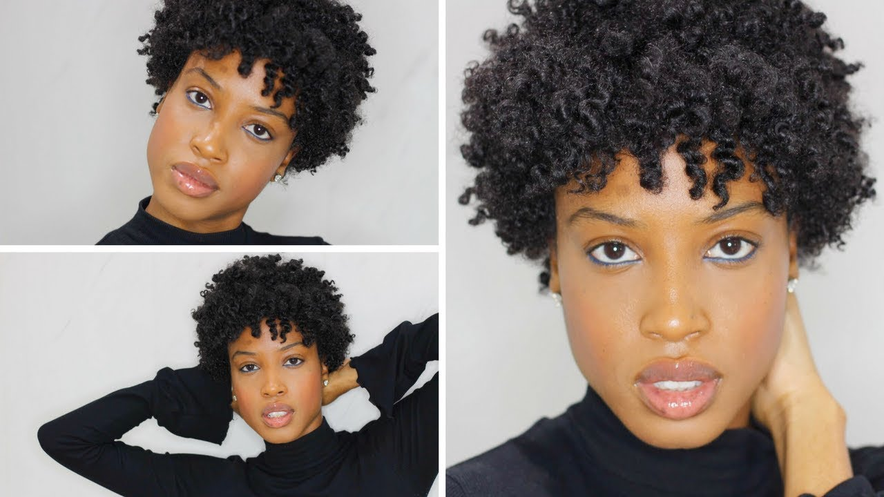 easy twist out tutorial on short natural hair