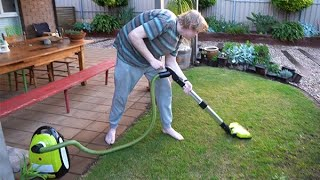 Vacuuming the Lawn