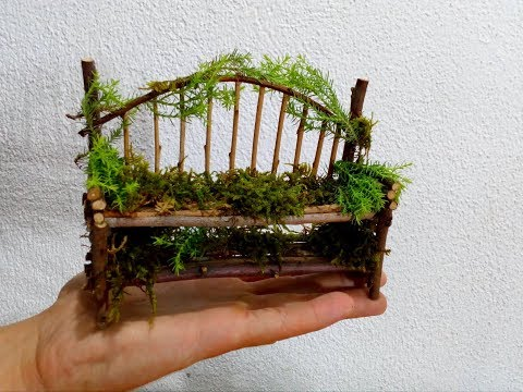 How to make a mini tree bench for fairy gardens
