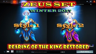 Winter 2017 Quest Reward : Zeus Set - Bearing of the King Restored Dota 2