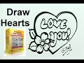 Chocolate Heart Valentines Drawing Tutorial Mother's Day Too!