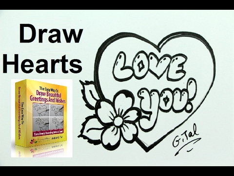 chocolate heart valentines drawing tutorial mother s day too youtube